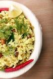 Desayuno indio del arroz Fotos de archivo libres de regalías