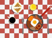 Desayuno inglés con café en la tabla Imagen de archivo