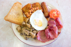 Desayuno inglés frito Fotos de archivo libres de regalías
