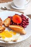 Desayuno inglés lleno Fotos de archivo