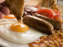 Desayuno inglés lleno foto de archivo