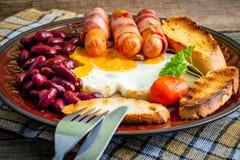 Desayuno inglés lleno Imagen de archivo