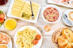 Desayuno internacional caluroso Fotos de archivo