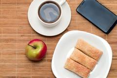Desayuno ligero Fotos de archivo libres de regalías