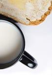 Desayuno ligero en negro Fotos de archivo libres de regalías