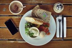 Desayuno orgánico Fotografía de archivo libre de regalías