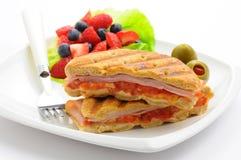 Desayuno Panini Imagen de archivo