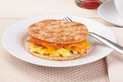 Desayuno Panini Fotografía de archivo