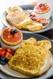 Desayuno para dos Fotos de archivo libres de regalías