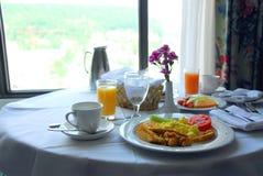 Desayuno para dos fotografía de archivo