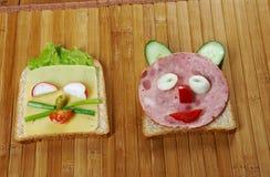 Desayuno para el niño Foto de archivo
