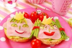 Desayuno para el niño Imagen de archivo libre de regalías
