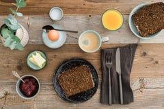 Desayuno para uno Fotos de archivo libres de regalías