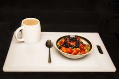 Desayuno patriótico del rojo, blanco y azul Foto de archivo