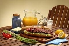 Desayuno pesado Imagen de archivo libre de regalías