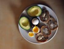 Desayuno rústico imagenes de archivo