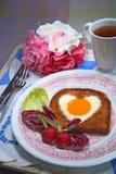 Desayuno romántico Fotografía de archivo