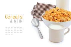 Desayuno sano con el cereal Foto de archivo