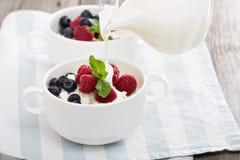 Desayuno sano de Colofrul con requesón Fotos de archivo libres de regalías