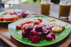 Desayuno sano de la fruta Fotografía de archivo libre de regalías