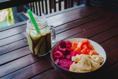 Desayuno sano de la fruta Foto de archivo libre de regalías