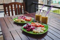 Desayuno sano de la fruta Imagen de archivo