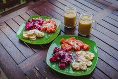 Desayuno sano de la fruta Foto de archivo