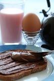 Desayuno sano de los cabritos Imagenes de archivo