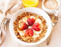 Desayuno sano del corazón Fotografía de archivo