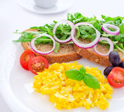 Desayuno sano del huevo Foto de archivo libre de regalías