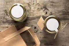 Desayuno sano en un tarro Fotografía de archivo libre de regalías