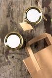 Desayuno sano en un tarro Foto de archivo libre de regalías