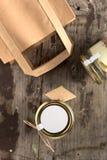Desayuno sano en un tarro Imágenes de archivo libres de regalías