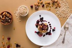 Desayuno sano - gachas de avena de la harina de avena, aún vida Fotos de archivo libres de regalías