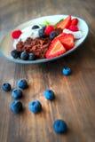 Desayuno sano sabroso foto de archivo libre de regalías