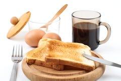 Desayuno simple Imágenes de archivo libres de regalías