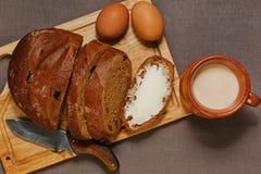 Desayuno simple en del este - estilo europeo Fotografía de archivo