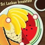 Desayuno srilanqués ilustración del vector