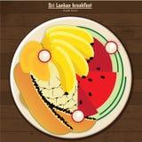Desayuno srilanqués stock de ilustración
