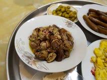 Desayuno tradicional de Levant fotografía de archivo