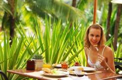 Desayuno tropical fotografía de archivo libre de regalías