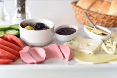 Desayuno turco sano Imagen de archivo libre de regalías