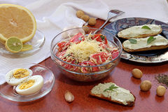 Desayuno vegetariano Foto de archivo