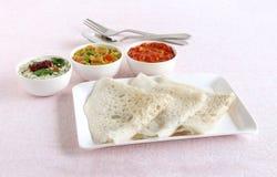 Desayuno vegetariano indio del sur de Neer Dosa imagen de archivo libre de regalías
