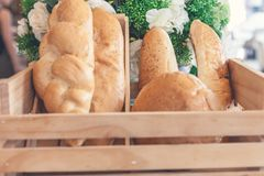 Desayuno y pan Imagen de archivo