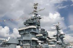 Desbastamento de combate do navio Fotos de Stock Royalty Free