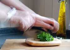 Desbastando a salsa Fotos de Stock