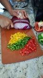Desbastando vegetais Imagens de Stock