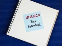 Desbloquee su potencial 3 Foto de archivo libre de regalías