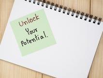 Desbloquee su potencial 4 Imágenes de archivo libres de regalías